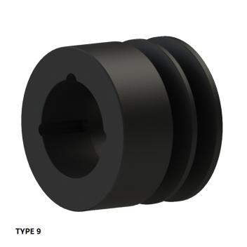 2槽 SPZ 窄V带轮 节径62mm SPZ62-02