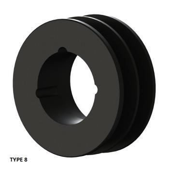 2槽 SPZ 窄V带轮 节径75mm SPZ75-02
