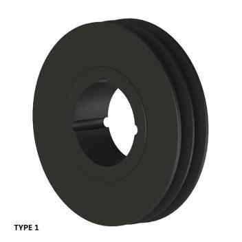 2槽 SPZ 窄V带轮 节径145mm SPZ145-02