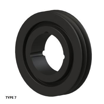 2槽 SPZ 窄V带轮 节径180mm SPZ180-02