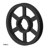 2槽 SPZ 窄V带轮 节径236mm SPZ236-02