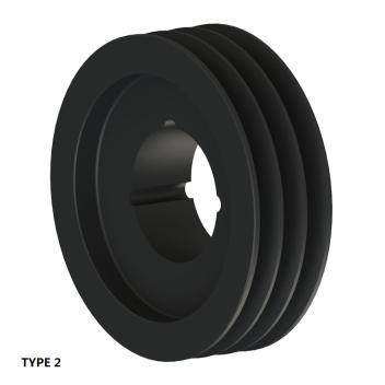 3槽 SPZ 窄V带轮 节径125mm SPZ125-03